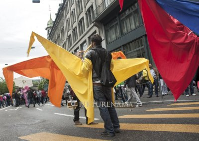 Wings of Freedom at Zurich Bahnhofstrasse LGBT Parade
