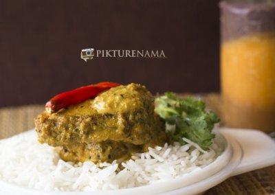 Complete Bhekti Tok Jhal Mishti by pikturenama 1 served with rice