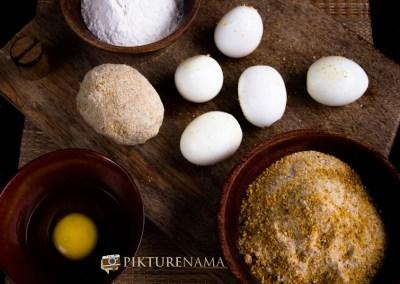 misen en place Dimer Devil or Scotch eggs Desi style by pikturenama