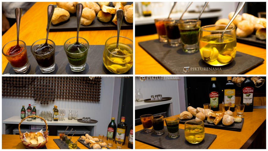 Olive oil tasting session at Tuscany Food festival at Afraa Kolkata