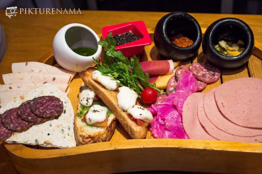 Antipasti platter at Tuscany Food festival at Afraa Kolkata