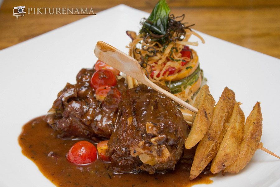 Agnello Brodellato or Lamb Shanks at Tuscany Food festival at Afraa Kolkata