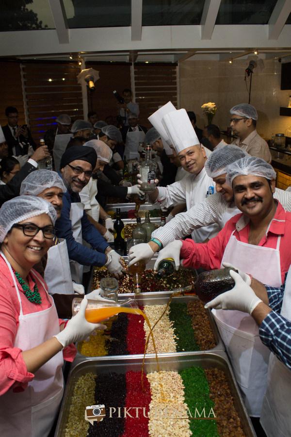 Team at Christmas cake mixing at The Lalit Great Eastern Kolkata