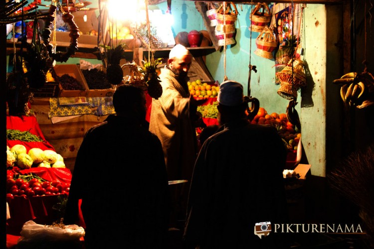 Vegetable shop at Pahalgam town