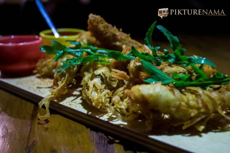 Wall Street Bar Kolkata ginger chicken strips