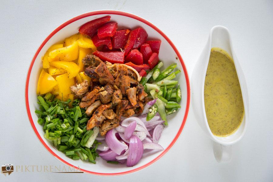 Chicken salad raw ingredients