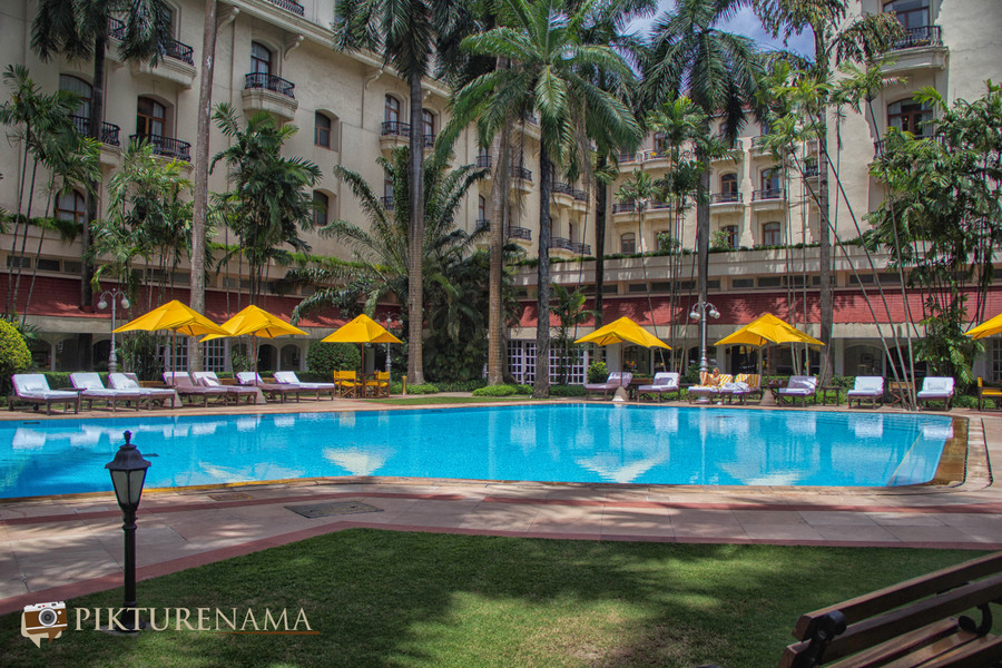 Oberoi Grand Kolkata swimming pool area 2