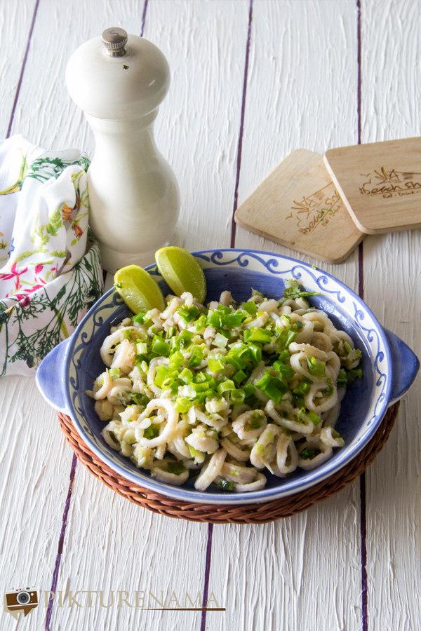 Butter garlic squids 2