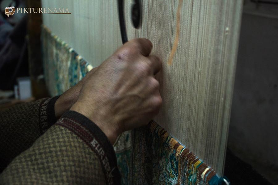 Faces of Kashmir carpet weaver 9