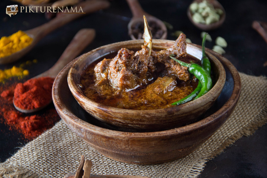 Mutton korma and Kosha Mangsho cook off