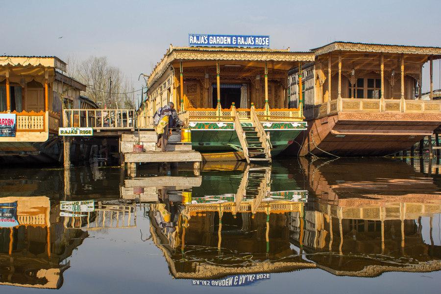 Kashmir Houseboat night