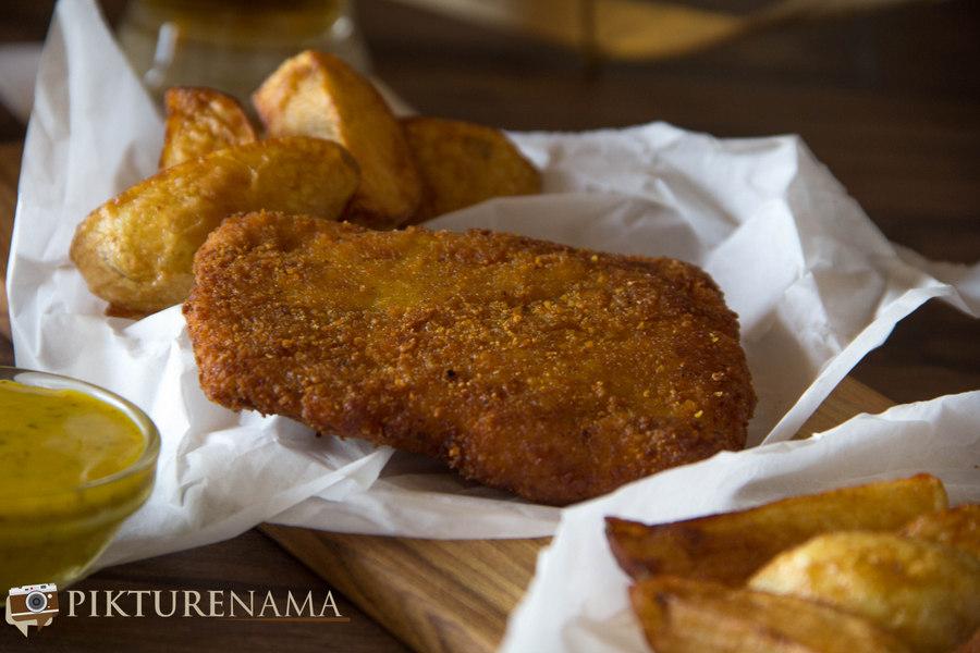 kolkata style fish fry with cheese - 1