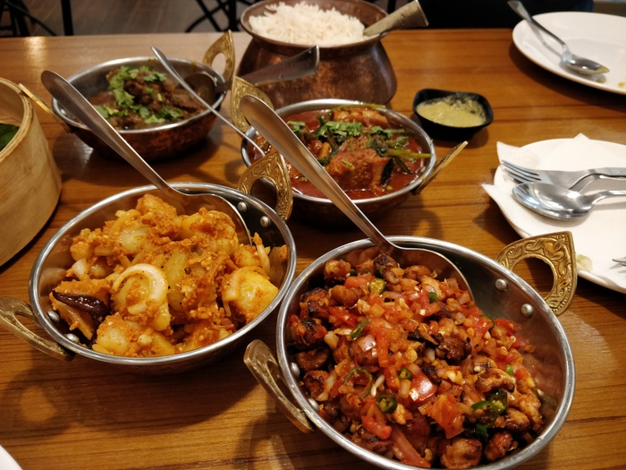 The Blue Poppy Thakali interiors chicken Choila