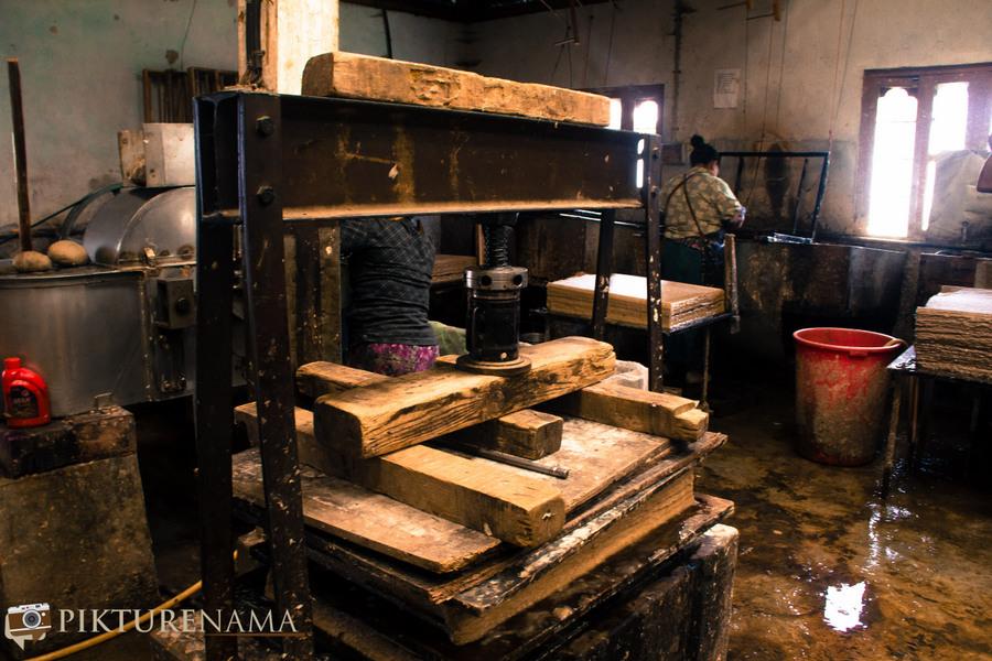 Jungshee Paper factory Thimpu Bhutan - 12