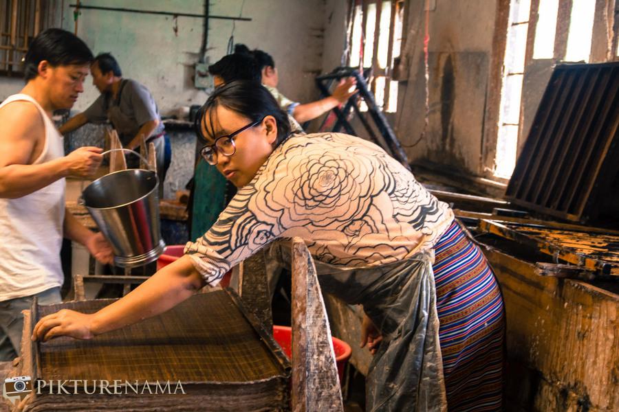 Jungshee Paper factory Thimpu Bhutan - 20
