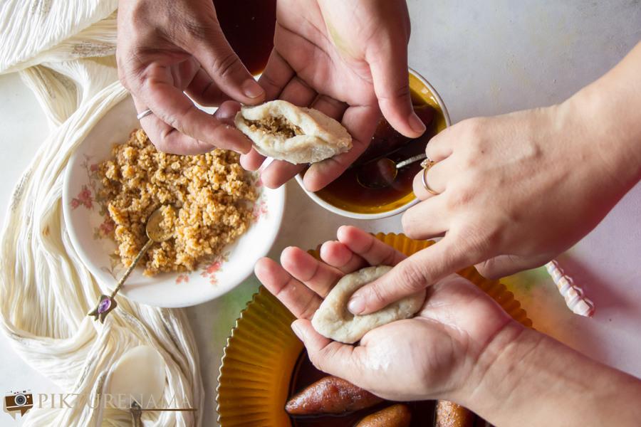Bengali style Ranga Alur Rashapuli - 5