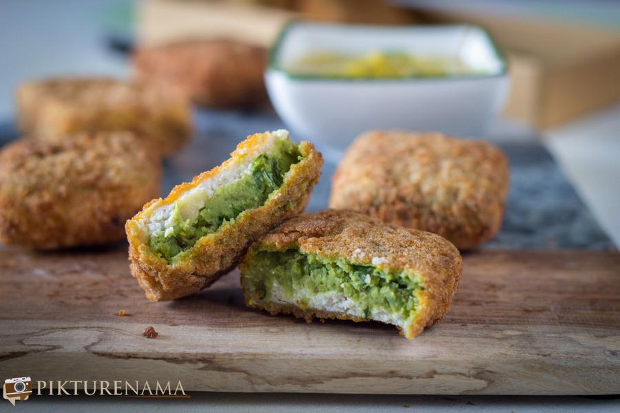 Chhana Koraishutir cutlet / Green peas and home made ricotta cheese curd cutlet