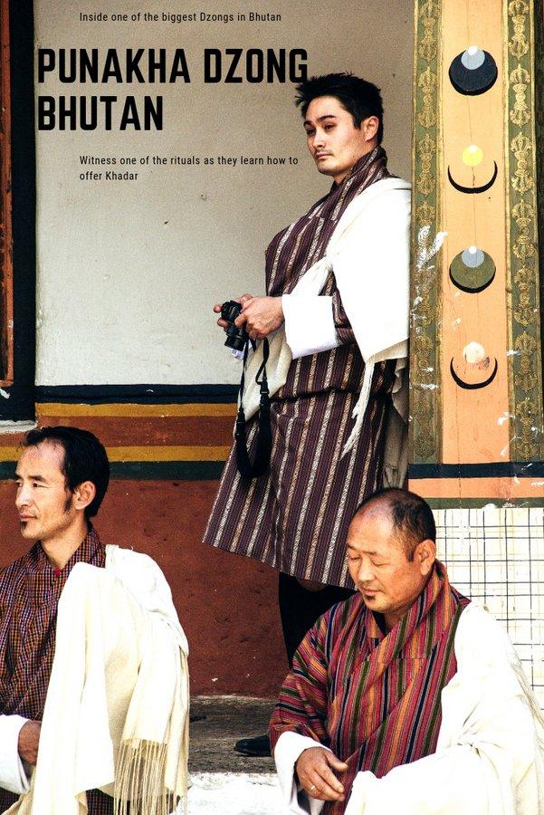 Inside Punakha Dzong Bhutan pinterest 2