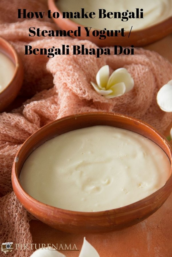 How to make Bengali Bhapa Doi pinterest