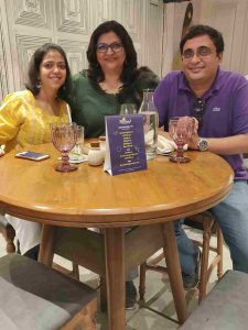 With Shweta and Neil