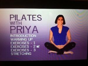Pilates with Priya DVD Menu