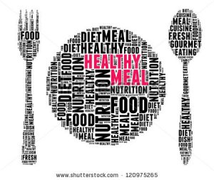 Health Meal, Words Image