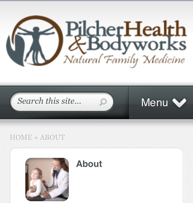 Mobile Website for Pilcher Health and Bodyworks