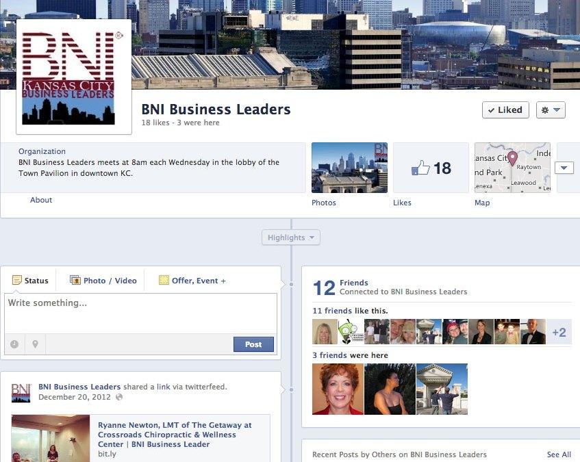 New Social Media for BNI Kansas City Business Leaders