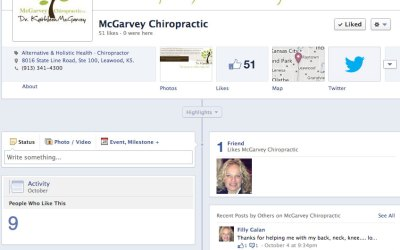 New Social Media for McGarvey Chiropractic
