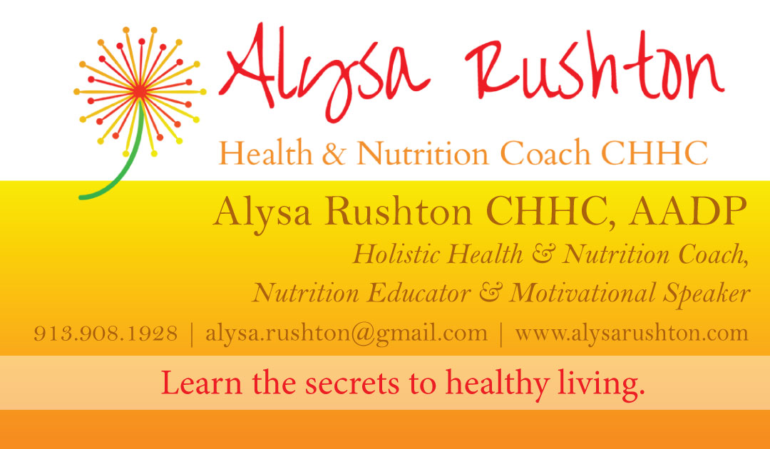 New Business Cards for Nutrition Coach Alysa Rushton | Pilcher ...