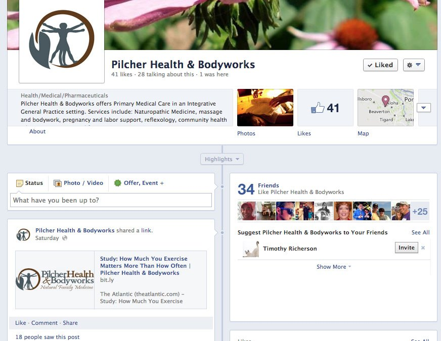 New Facebook Business Page for Pilcher Health & Bodyworks!