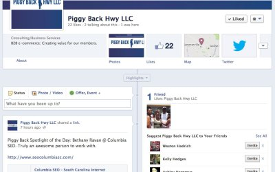 New Facebook Business Page for Piggy Back Hwy!
