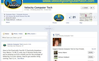 New Facebook Business Page for Velocity Computer Tech!