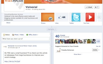 New Facebook Business Page for ViziSocial!