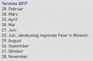 Termine Pilgerstamm Regio St.Gallen