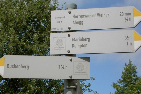 Wegweisung Münchner Jakobsweg