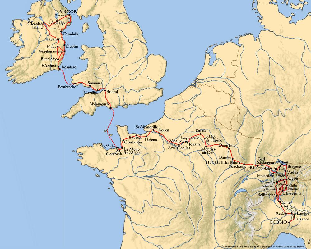 Karte Kolumban-Weg
