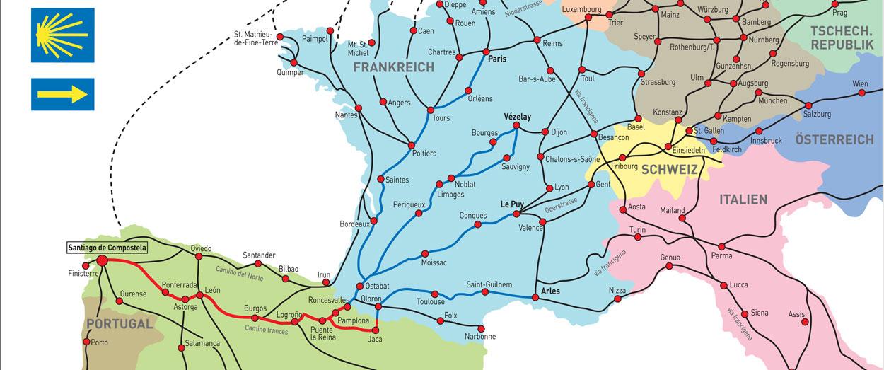 Jakobswege Europa