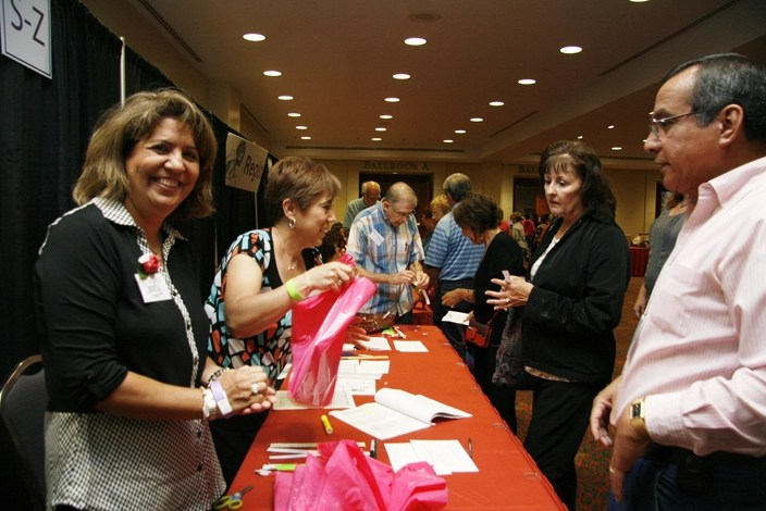 Volunteers assist at the Catholic Women's Conference in San Antonio