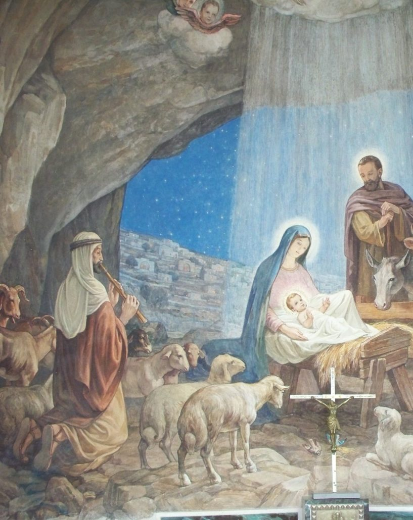 Nativity mural - Shepherd's Field - Holy Land