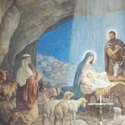 Nativity mural - Shepherd's Field - Holy Land