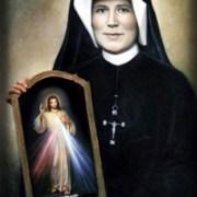 Saint Faustina Kowalska with Divine Mercy image