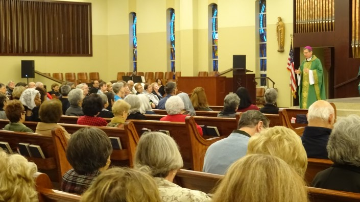 Archbishop gives a homily during the 2017 Catholic Seniors' Conference