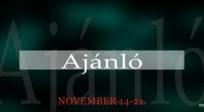 Műsoraink november 14-21.