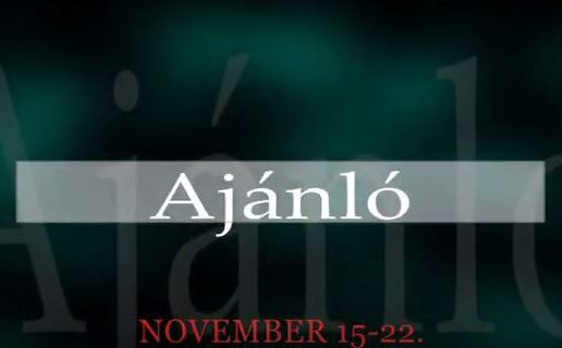 Műsoraink november 15-22.