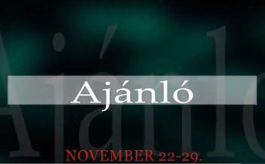 Műsoraink november 22-29.