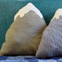 Upcycled Sweater Mountain Cushion (Pillow)