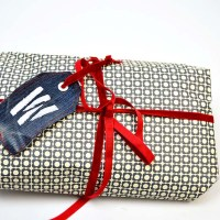 Upcycled Monogrammed Denim Gift Tag