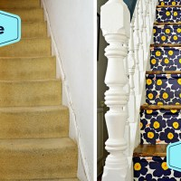 How to Make Marimekko  Wallpapered Stairs