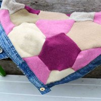 How To Make A Recycled Sweater Blanket With Hexagons